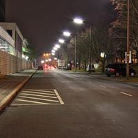 Selten, dass in Fürth mit so viel Abstand zur Straße gemessen wird.