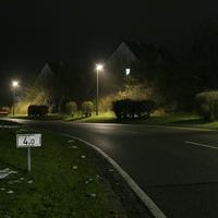Linkskurve am Ortsausgang von Cadolzburg in Richtung Ammerndorf.