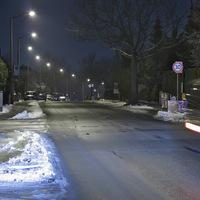 Anfahrt. Lichtstreifen waren leider nicht zu vermeiden, da ständig Verkehr war.
