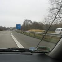 Anfahransicht vom Dreieck Bad Schwartau kommend auf der BAB 226 kurz vor der Abfahrt Lübeck-Dänischburg / Sereetz ...