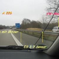 Gesamtansicht in Richtung Travemünde / Siems auf der A 226