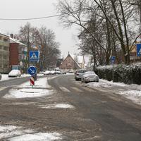 Anfahrtsansicht auf Höhe der Kreuzung Carl-von-Linde-Strasse