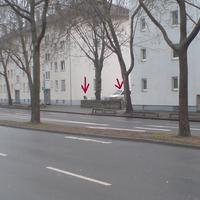 Karlsruher Straße in Rtg Innenstadt.50m vor der Ampel zum Hbf. Messwagen VW T4 HN-HU 37 stand zw. den Häuserblöcken in Fahrtrichtung nicht sichtbar.Messaufbau wurde von den meisten Fahrern rechtzeitig erkannt, so das es sehr selten blitzte.