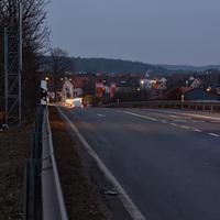 Anfahrt auf Höhe Autobahnanschlussstelle Breitengüßbach-Mitte.