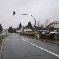ortseinwärts Richtung Erlangen