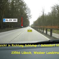 ...aus der Gegenrichtung von Lübeck kommend, in Rtg. HL-Schlutup bzw. Nordwest-Mecklenburg ...