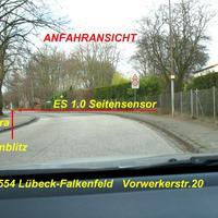 Anfahransicht ab hier Tempo 30 wegen Kinderheim und Deakonie Vorwerk ...