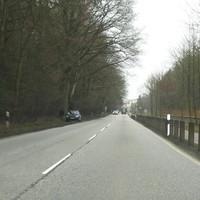 Anfahransicht der Gegenrichtung B 104 am Lauerholz