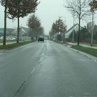 Anfahrt von Juiser Feld/Zentrum in Richtung Tegelen/NL.