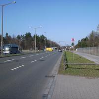 Man nähert sich so langsam dem Messbereich (links kreuzen Messe / Große Straße).
