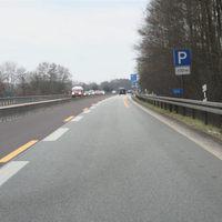 Anfahrt auf die Messstelle, welche direkt am Parkplatz liegt (etwa 1,3 km vor der Ausfahrt Putzlitz).