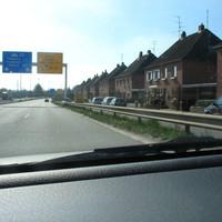 Anfahransicht im Gegenlicht kaum erkennbar ! Fahrtrichtung Lübeck bzw. A 226 Hamburg !!!