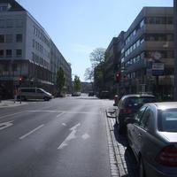 Anfahrtsansicht Höhe Kreuzung Färberstraße.