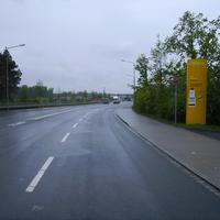 Anfahrtsansicht kurz nachdem man die Hafenstraße verlassen hat.