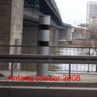 Die Anlage im Januar 2008 mit zwei Plattformen für  zwei Fahrspuren.