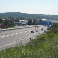 Überblick... geblitzt wird auf der A6 Richtung Nürnberg, Höhe Sinsheim / Einfahrt Rasthof Kraichgau