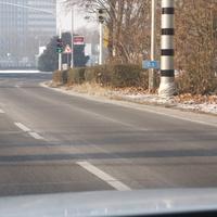 neuer Messanlage am Autobahnende BAB 656, im Hintergrund noch die alte Traffi-Anlage