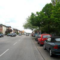 Anfahransicht aus Lübeck kommend in Richtung Bad Schwartau. Rechts befindet sich eine Grudschule!