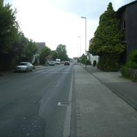 Anfahrtsansicht hinter der Kreuzung Papenweg.