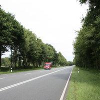 Anfahrtsansicht: ca. 500 Meter hinter dem Parkplatz in Richtung Friesoythe