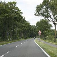 Anfahrtsansicht: Von der B401/Friesoythe kommend in Richtung Edewecht