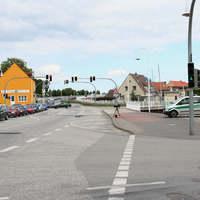 Anfahrt auf die Kontrollstelle, welche sich etwa 500 Meter vor der Brücke auf die Insel Usedom befindet.