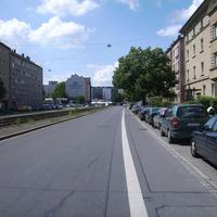 Anfahrtsansicht Höhe Freiburger Straße.