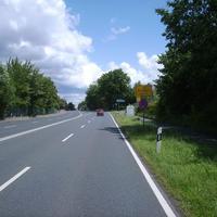 Anfahrtsansicht kurz vor Ortseingang Zirndorf.