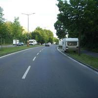 Anfahrtsansicht nach Kreuzung Gleißhammer Straße. Hier fand heute Nachtmessung in beide Fahrtrichtungen statt.
