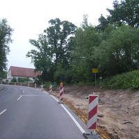 Anfahrtsansicht kurz vor Ortseingang Neuses.