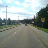 Anfahrt aus Richtung Haigerloch/A 81. Hier gilt bereits 50 km/h, also kein Problem, die Geschwindigkeit zu erreichen.
