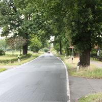 Anfahrtsansicht: 50er Zone in Richtung Wehnen/Ofen, ca. 350 Meter nach dem Kreisverkehr (Oldenburg/Petersfehn/Wildenloh)