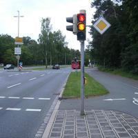 Anfahrtsansicht Höhe Kreuzung Breslauer Straße.