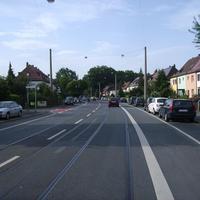Anfahrtsansicht Höhe Pottensteiner Straße.