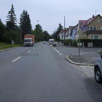 Anfahrtsansicht Höhe Ittlinger Straße (hinter der Ampelkreuzung Moritzbergstraße).