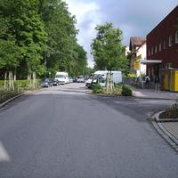 Anfahrtsansicht auf Höhe der Einmündung Palmstraße.