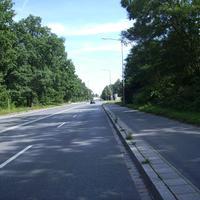 Anfahrtsansicht kurz vor der Hans-Fallada-Straße. Man dürfte sich bereits im Messbereich befinden.