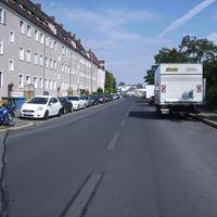Anfahrtsansicht Höhe Einmündung Endresstraße.