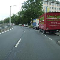 Anfahrtsansicht von der Frankenstraße her kommend.