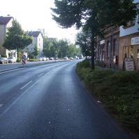 Anfahrtsansicht kurz vor der Ampel Platenstraße (keine Einmündung!).