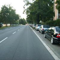 Anfahrtsansicht hinter der Abzweigung Schweinauer Hauptstraße.