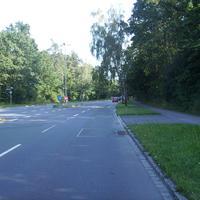 Anfahrtsansicht Höhe Doktor-Linnert-Ring nach der Kreuzung Breslauer Straße.