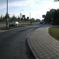 Anfahrtsansicht kurz nach dem Kreisverkehr.
