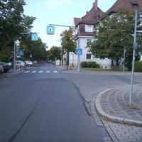 Anfahrtsansicht Höhe Weißer Weg.