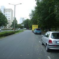 Anfahrtsansicht kurz nach der Karl-Schönleben-Straße.