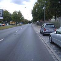 Anfahrtsansicht kurz nach der Kreuzung Wallensteinstraße.