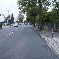 Anfahrtsansicht in Höhe des Altenheims.