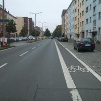 Anfahrtsansicht nach der Kreuzung Äußere Sulzbacher Straße.