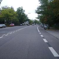 Anfahrtsansicht nach der Einmündung Edisonstraße.