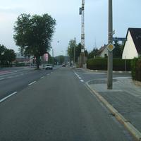 Anfahrtsansicht in Höhe Wemdinger Straße.